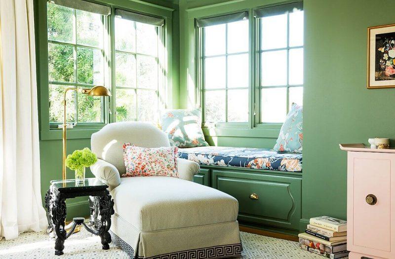 Sơn nội thất màu xanh cho phòng ngủ