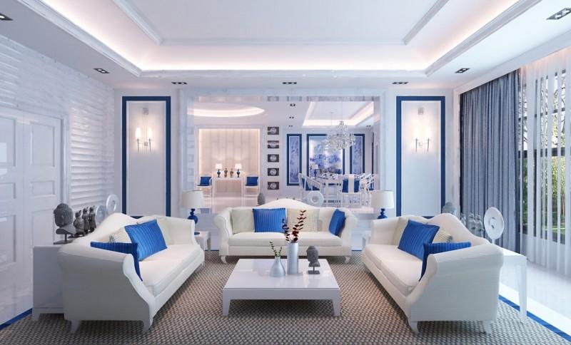 Màu sơn phòng khách đẹp cho người mệnh Mộc