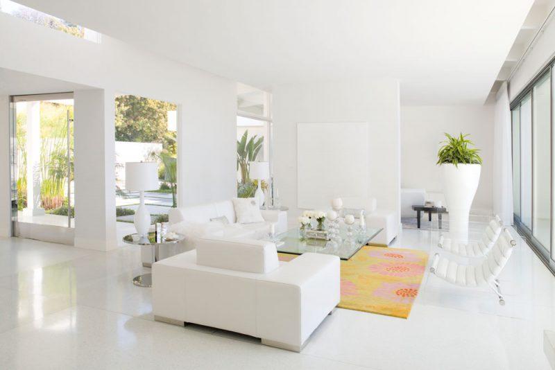 Sơn nội thất nhà màu trắng cho người mệnh Kim