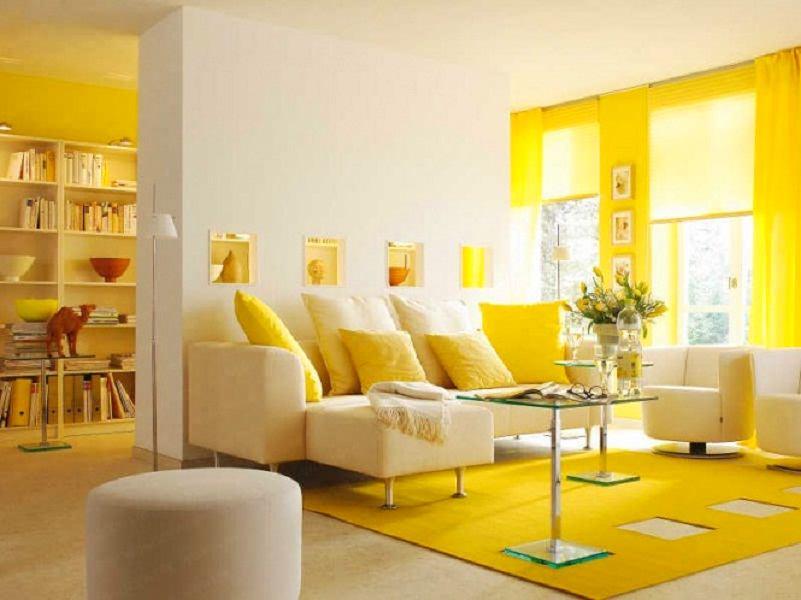 Người mệnh Thủy cũng rất hợp với màu sơn nội thất màu vàng
