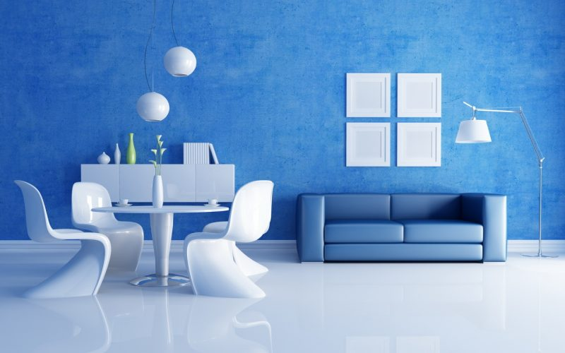 Sơn nội thất nhà màu xanh dương mang đến sự nhẹ nhàng, thư thái