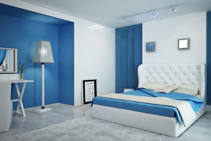 Sơn tường nội thất màu xanh dương