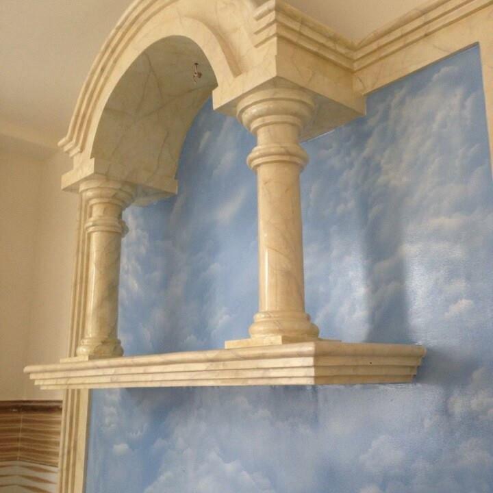 Thi công sơn giả đá cẩm thạch thế nào là đúng quy trình?