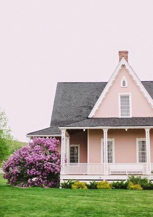 Sơn ngoài trời đẹp vời màu hồng