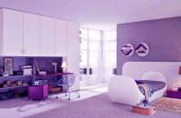 Sơn trong nhà đẹp với màu tím