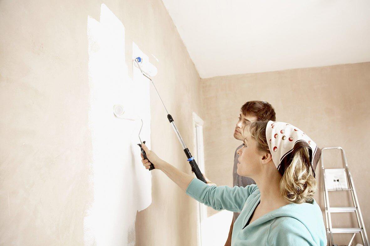 Cách sơn tường nhà cũ