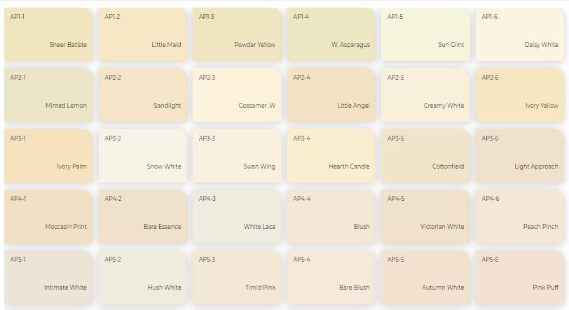 Bảng màu sơn trong nhà và ngoài trời Davosa