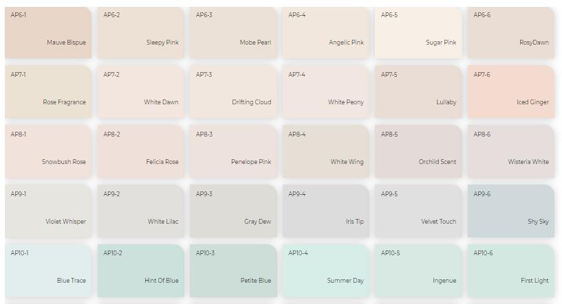 Bảng màu sơn trong nhà và ngoài trời Off White